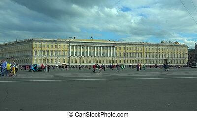 The General staff on Palace square Saint-Petersburg 4K - The...