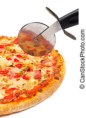 Italian pizza and cutter - Tasty Italian pizza and cutter,...