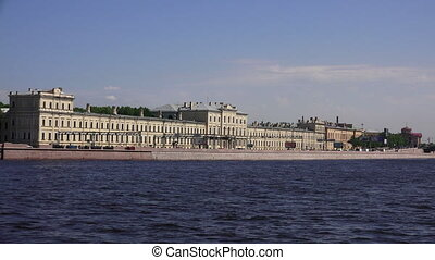 Military medical Academy on Pirogovskaya embankment in St....