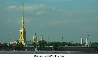 Peter and Paul fortress in St Petersburg4K - Peter and Paul...