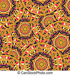 Colorful Seamless Pattern Background Mandala Backdrop Vector...