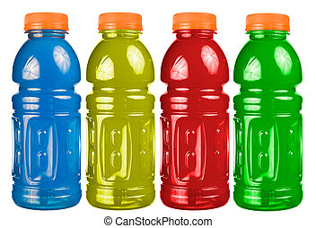 Sports Drink Set Isolated - A close up on a set of isolated...