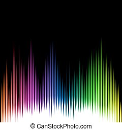 Sound Equalizer Wave Abstract Background. Vector