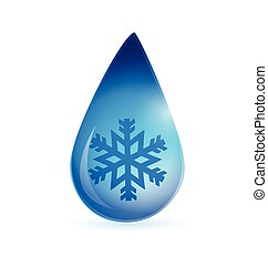 snowflake waterdrop illustration design over a white...