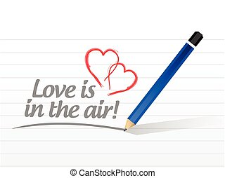 love is in the air message