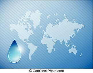 water on earth concept illustration
