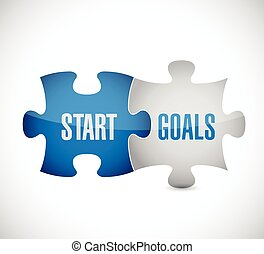 start goals puzzle pieces