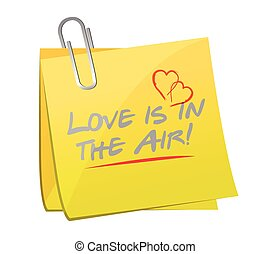 love is in the air memo post