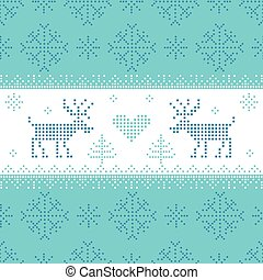 Christmas Scandinavian Card - for invitation, wallpaper, background - in vector