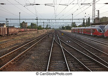 Railway - Many railway tracks at a station