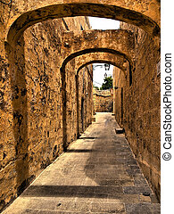 Zenqa Street - One of the medieval streets in the citadel in...