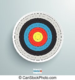 Target - Colore target on the grey background