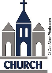 Church logo vector icon