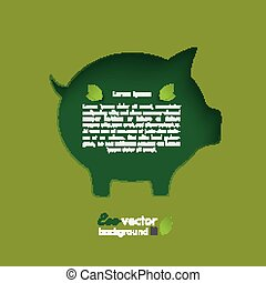 Piggy Bank In Piggy Bank - Silver background infographic.