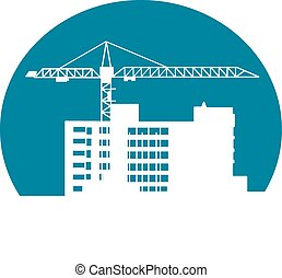 Construction site - Construction building symbol for...