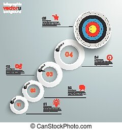 Rings Growth Target 5 Options Infographic - Infographic with...