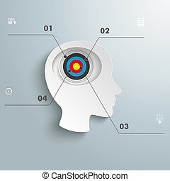 White Paper Head Brain Target - White head 4 options with...