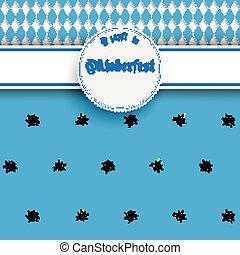 Bavarian Oktoberfest Flyer Banner Emblem Edelweiss -...