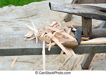 OLd fashioned carpentry bench