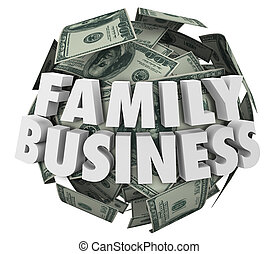 Family Business Words Money Ball Starting Company Relatives...