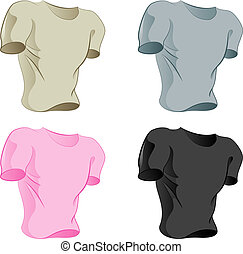 Collection of t-shirts - Four colored T-shirts for your...