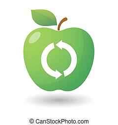 Apple icon with a recycle icon