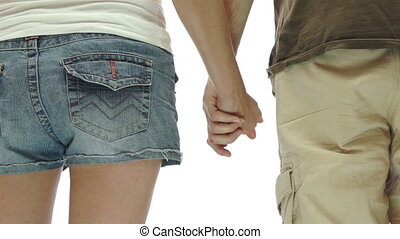 Couple Holding Hands Isolated