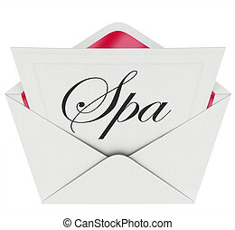 Spa Letter Invitation Special Offer Relaxation Treatment...