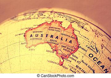 Australia on map - Australia on atlas world map
