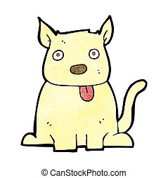 cartoon dog sticking out tongue
