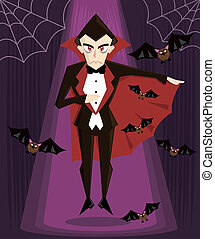Dracula halloween character vector illustration More...