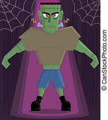 Frankenstein Monster halloween character vector illustration...