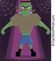 Frankenstein Monster halloween character vector...