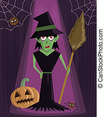 Wicked Witch halloween character