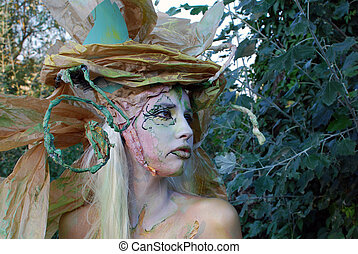 fairy girl portrait face paint
