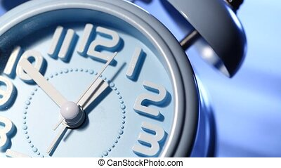 Clock Face Ticking - Close up of a modern analog?clock?face?...