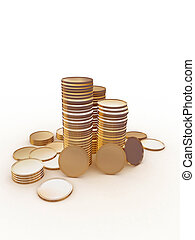 stack of money coins