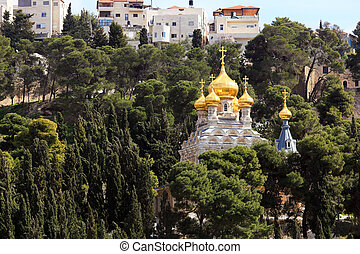 Mary Magdalene Convent on the Mount of Olives, Jerusalem