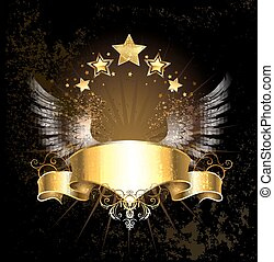 gold ribbon with wings - gold ribbon decoration angel wings...