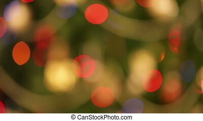 defocused blinking christmas lights