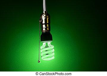 Green compact fluorescent bulb
