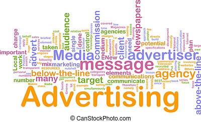 Advertising word cloud - Word cloud concept illustration of...