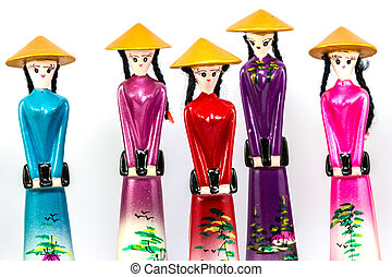 Traditional dolls of Vietnam women