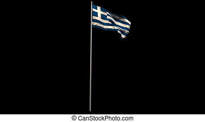 Greece national flag waving