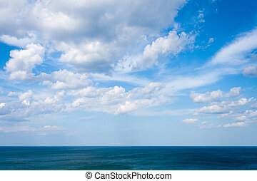 sea landscape - sea and sky whit clouds landscape on summer...