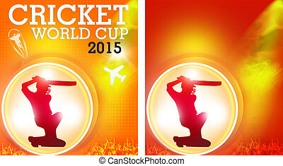 cricket world cup 2015 flyers combo - two wallpapercreatives...