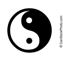 Yin and Yang symbol isolated on white background.