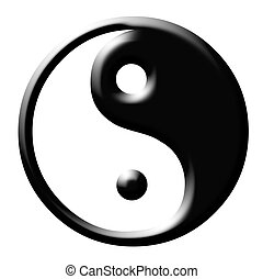 Yin and Yang symbol isolayed on white background.