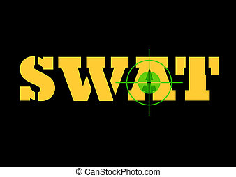 Swat sign and rifle sight - Telescopic night sign over top...