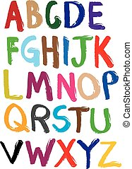 Vector illustrate alphabet from A to Z